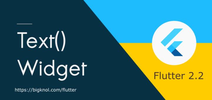 Say Hello to Flutter Text Widget