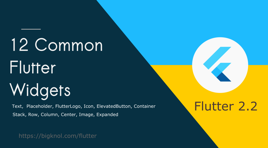 12 Common Flutter Widgets with Practical Examples