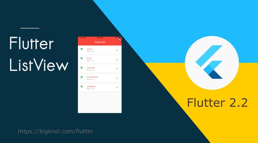 Build Flutter ListView Food List App